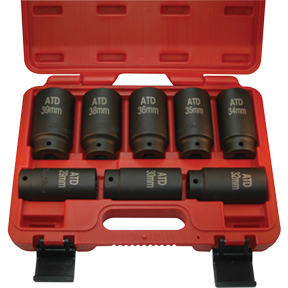 8 Pc  12 Point Axle/Spindle Nut Socket Set