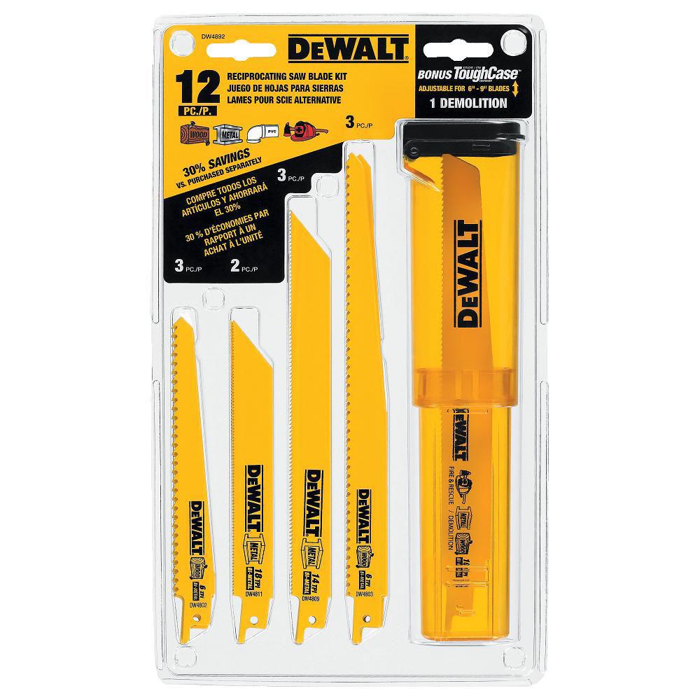 """Reciprocating Saw Blades Set 9/"""" 14 TPI 5 pcs for DeWalt /& Makita Cut Wood Metal"""