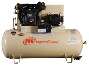 10hp 200 3 2545e10 v two stage cast iron air compressor at for Ingersoll rand air compressor motor starter